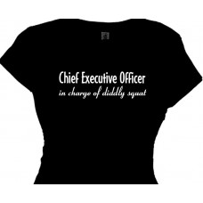 CHIEF EXECUTIVE OFFICER funny office tee shirt humor